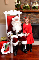 Julie's Daughter with Santa